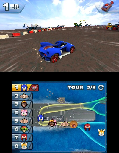 Sonic All Stars Racing Transformed sur 3DS