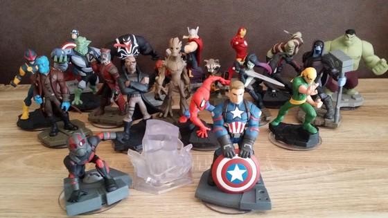 5 Figurines Disney Infinity (Ex : Rocket Raccoon + Fleche + Ralph + Barbossa +